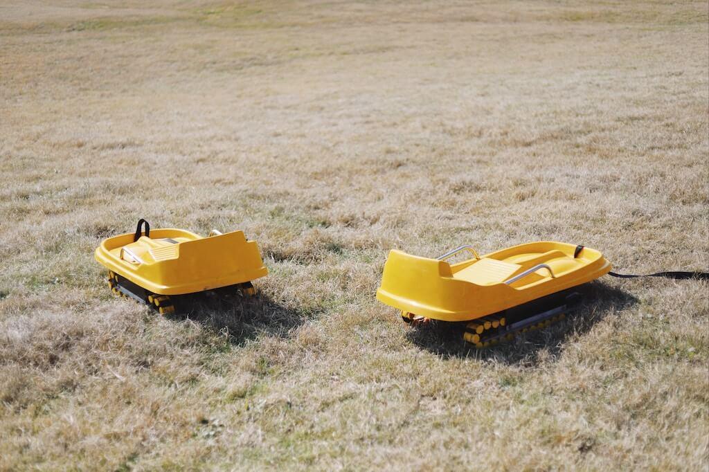 原山市民公園の芝そりイメージ
